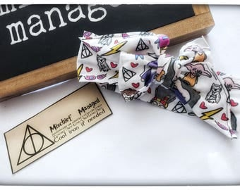 Harry potter headwrap, harry potter, harry potter baby, Harry Potter bow, headwrap, headband, baby bow, baby accessories