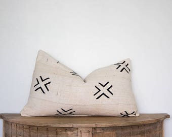 14X24 Authentic African Mudcloth Pillow Cover