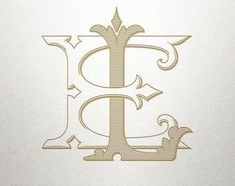 Interlocking Wedding Monogram - EL LE - Interlocking Wedding - Digital