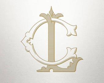 Royal Monogram Design - CL LC - Royal Monogram - Digital