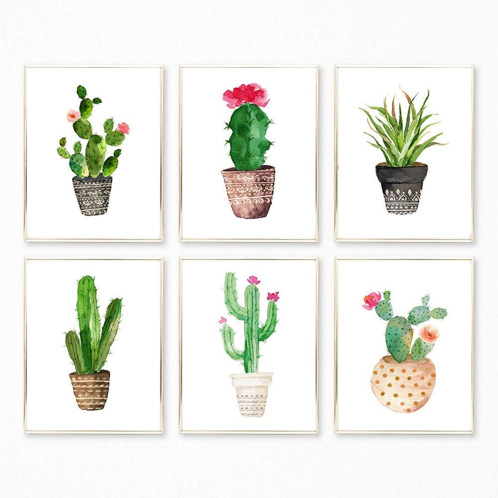 Succulent Prints Succulent Set Succulent Wall Art Cactus