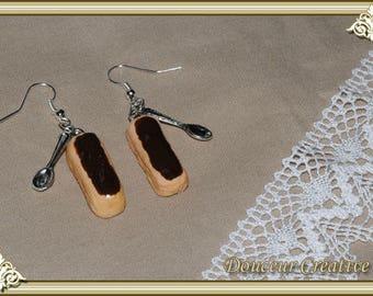 Earrings chocolate 104002 zipper