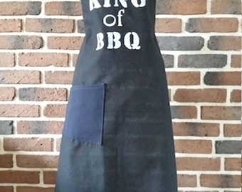 Black man King of BBQ apron