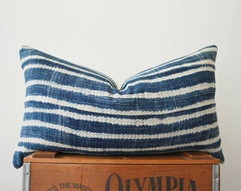 THE AUGUSTA African Mud Cloth Lumbar Pillow Cover