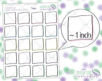 Hand Drawn Pastel Shadowed Note Box ~ Planner Stickers