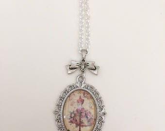 Dress woman vintage cabochon necklace
