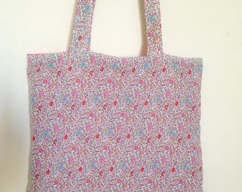 Reversible bag liberty katie and millie and fuchsia