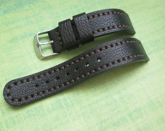 Watch strap, leather watch strap 18 mm handmade