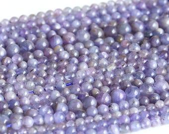 "Natural Genuine Blue Tanzanite Round Loose Gemstone Beads 4mm 5mm 6mm 8mm 15"" 05003"