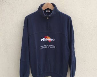 Vintage Ellesse Spell Out Logo Sweatshirt