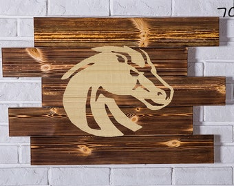 Boise State Broncos Wood Sign Boise State Broncos Wall art Boise State Broncos Gift Boise State Broncos Birthday Boise State Broncos Party