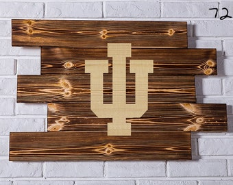 Indiana Hoosiers Wood Sign Indiana Hoosiers Wall art Indiana Hoosiers Gift Indiana Hoosiers Birthday Indiana Hoosiers Party wooden
