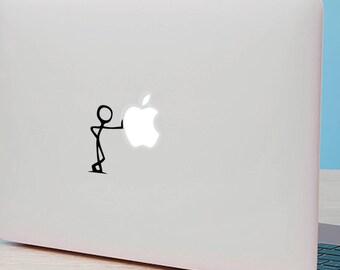 "STICKMAN MacBook Decal Sticker fits 11"" 13"" 15"" and 17"" models"