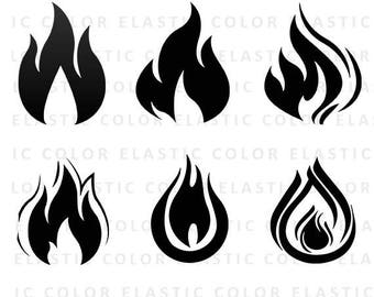 Fire svg  - flame svg - fire clip art - fire vector files -flame cut file svg, png, dxf, eps