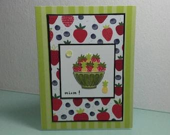 """Cup de Fruits"" greeting card"