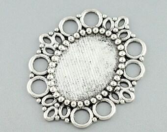 1 Cabochon oval silver 43x37mm - B08290 pendant