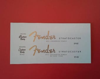 54-62 Fender Stratocaster in Gold Metallic Waterslide Decal