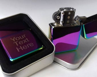 High Quality Engraved Petrol Lighter with personal message
