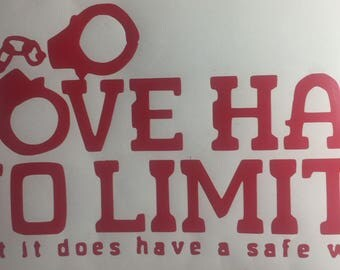 BDSM: Love has no limits Vinyl Decal Sticker