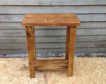 Hall table / kitchen unit - handmade from reclaimed timber