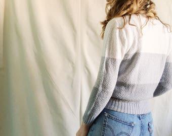 Vintage Striped Sweater // XS