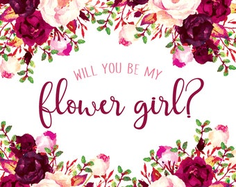 Flower Girl Proposal\\ Purple \\Digital File