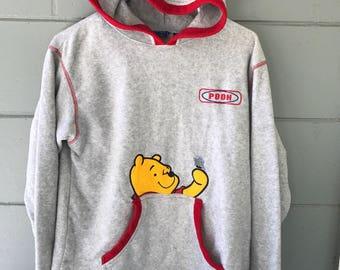 Womens Disney Winnie The Pooh hoodie sz M