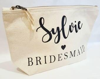 Makeup bag bridesmaid gift wedding occasion