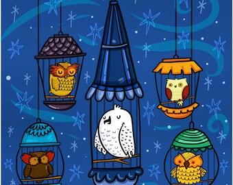Hedwig Owl Harry Potter Fan Art Illustration