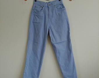 Vintage Highwaisted Baby Blue Stripe Pants