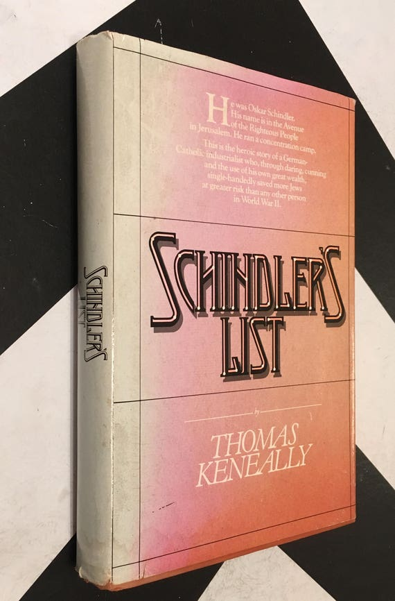 Schindler's List by Thomas Keneally  classic holocaust drama novel pink book (Hardcover, 1982)
