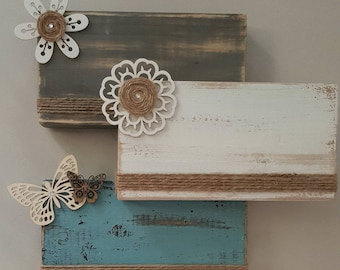 Spring Wood Block Picture Frame