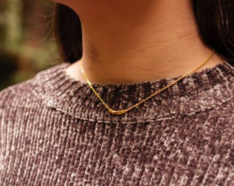 Leah geometric gold necklace