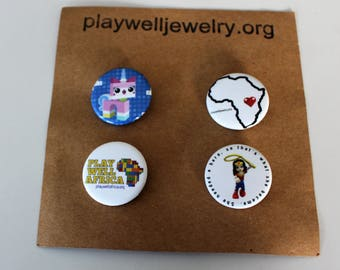 Play Well pins- Wonder Woman Pack