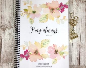 Prayer Journaling - Bible Journaling, Christmas Gift, Gratitude Journal, Bible Study, Illustrated Faith, Stocking Stuffer, Christian Gifts