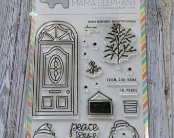 DESTASH- Mama Elephant MEOWY WOOFMAS Stamps