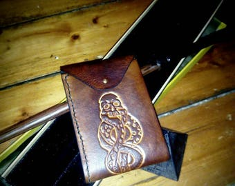 Leather wallet leather wallet
