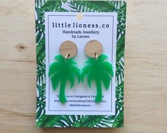 Acrylic Palm Tree Dangles