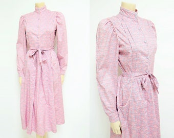 Pink Vintage Dress, UK8, Prairie Dress, Bohemian, Clothing, Dress, Alternative Wedding Dress, Vintage Clothes, Womens Dresses, Pink, Art