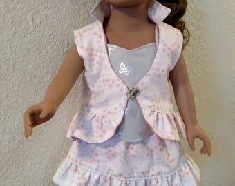Skirt Set - Three Reversible Pieces - Skirt, Vest, Tank Top -  for American Girl, Journey Girls, Our Generation and 18-inch Dolls
