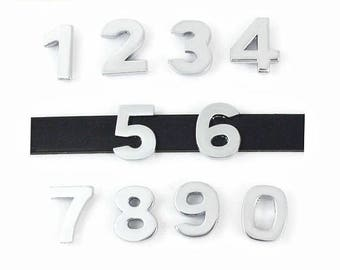Number Slider Charms 10mm Numeric Slide Charms Silver Tone Alloy Metal Personalized Charms Charm Bracelet Necklace