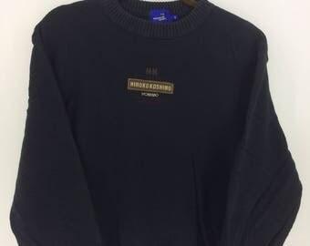 Vintage 90's Hiroko Koshino Homme Sport Classic Design Skate Sweat Shirt Sweater Varsity Jacket Size S #A831