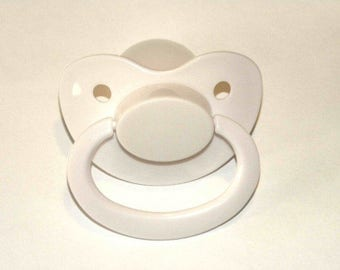 White Adult Pacifier | ABDL, DDLG, DDLB