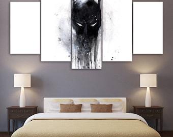 Modern batman print poster canvas decoration 5 pieces