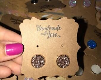 Druzy Earrings / Bridesmaid gift / Wedding Jeweley / Bridesmaid Jewelry / Handmade Jewelry / Anniversary Present / Birthday / Drusy Jewlery