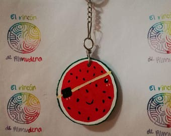 Fruit Keychain in Wood