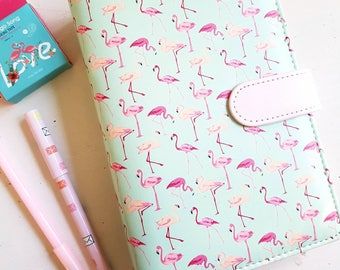 A6 Flamingo Personal Planner - Binder with inserts.
