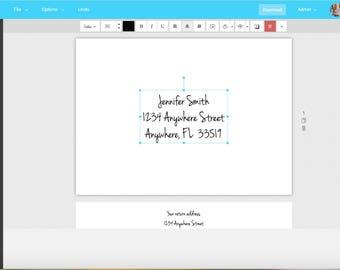 Wedding Invitation envelopes, digital download, eucalyptus theme, Templett #10-Envelopes