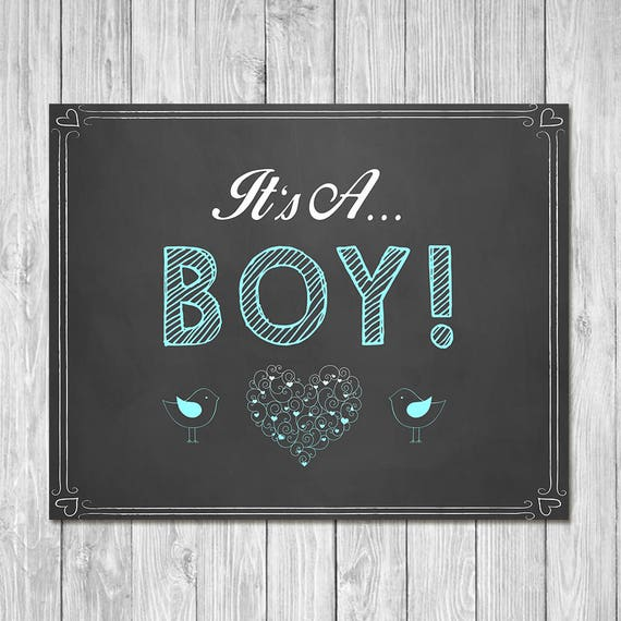 Pregnancy Announcement Sign - It's a Boy! - Sibling Announcement Sign - Expecting Sign - Photo Prop Pregnancy Sign - Instant Download