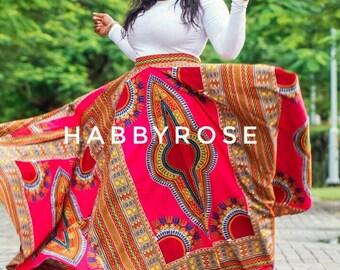 Dashiki maxi skirt, Ankara maxi skirt, Maxi ankara skirt, Dashiki skirt, African skirt, African print skirt, Maxi skirts.